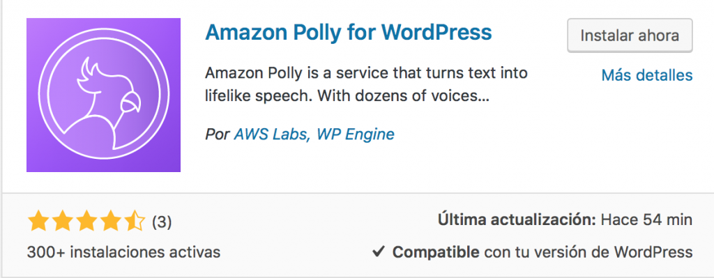Amazon Polly for WordPress
